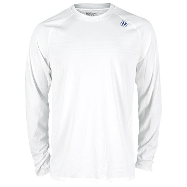 Men's Blow Away Long Sleeve Pullover Tennis Top White