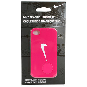 NIKE HARD IPHONE CASE PINK FORCE/WHITE