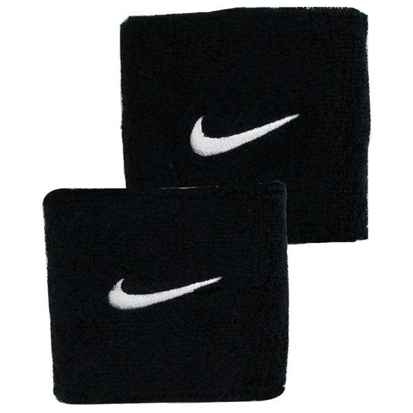 Swoosh Tennis Wristbands Black/White
