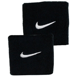 NIKE SWOOSH WRISTBANDS BLACK/WHITE