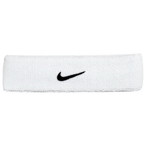 NIKE SWOOSH TENNIS HEADBAND WHITE/BLACK