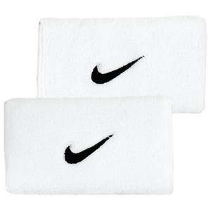 NIKE SWOOSH DBLEWIDE WRISTBANDS WHITE/BLACK