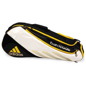 adidas BARRICADE III TOUR 3 PACK WH/YELLOW BAG