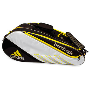 adidas BARRICADE III TOUR 6 PACK WH/YELLOW BAG