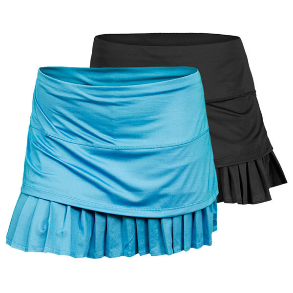 Women's Solid Layered Pleat Tennis Skirt