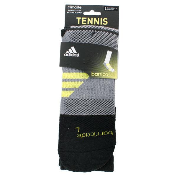 Barricade Large Black Crew Tennis Socks