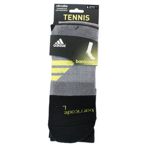 adidas BARRICADE LARGE BLACK CREW SOCKS