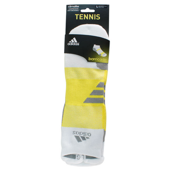 Barricade Large White Tabbed No Show Tennis Socks