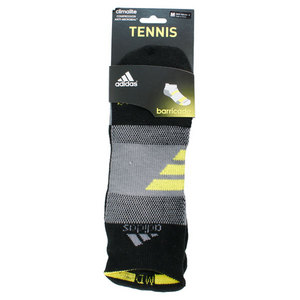 adidas BARRICADE MEDIUM BLACK NO SHOW SOCKS