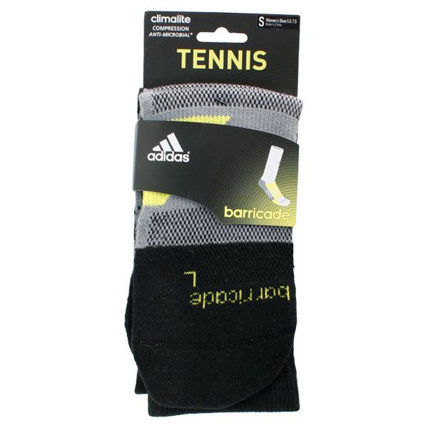 Barricade Small Black Crew Tennis Socks