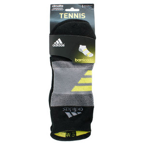 Barricade Small Black Tabbed No Show Tennis Socks