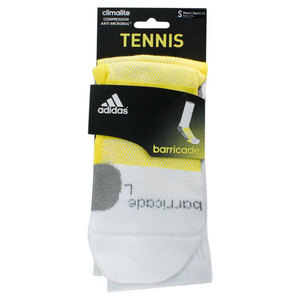 adidas BARRICADE SMALL WHITE CREW SOCKS