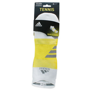adidas BARRICADE MEDIUM WHITE NO SHOW SOCKS