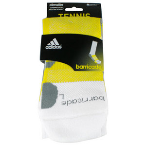 adidas BARRICADE MEDIUM WHITE CREW SOCKS