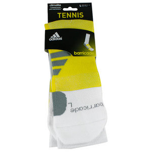 adidas BARRICADE LARGE WHITE CREW SOCKS