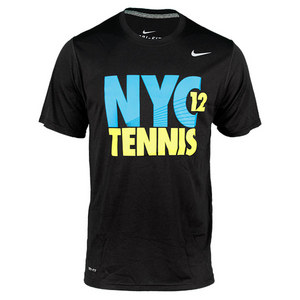 NIKE MENS NYC 12 TENNIS TOP BLACK