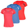 NIKE Women`s Border Short Sleeve Tennis Top