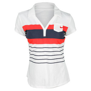 NIKE WOMENS GRAPHIC COTTON TENNIS POLO