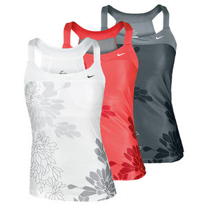 NIKE WOMENS GRAPHIC KNIT TENNIS TANK