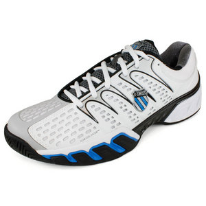 K-SWISS MENS BIGSHOT II TENNIS SHOES WHITE/GRAY