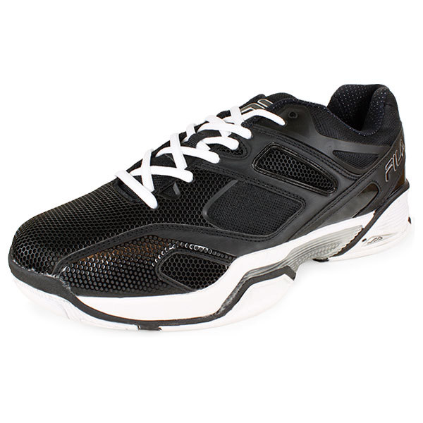 Men's Sentinel Tennis Shoes Black And Silver