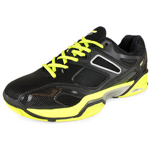 Men`s Sentinel Tennis Shoes Black and Neon