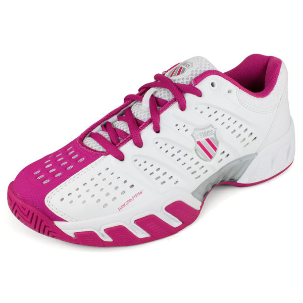 Junior's Varsity Bigshot Light Tennis Shoes White/Magenta