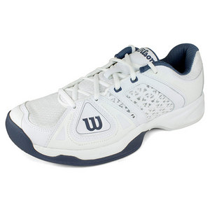 WILSON MENS STANCE ELITE WHITE/FLINT GREY SHOES
