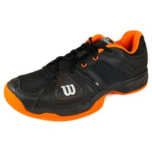 WILSON MENS STANCE ELITE BLACK/ORGANGE SHOES