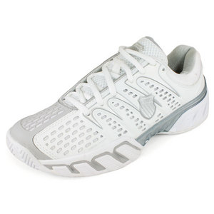 K-SWISS WOMENS BIGSHOT II TENNIS SHOES WHITE/GY