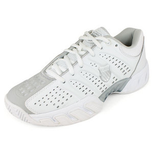 K-SWISS WOMENS BIGSHOT LIGHT SHOES WHITE/SILVER