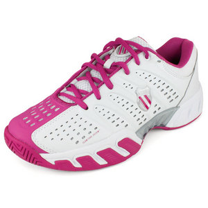 K-SWISS WOMENS BIGSHOT LIGHT SHOES WHITE/MAGENTA