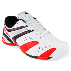 BABOLAT MENS V PRO 2 ALL COURT SHOES WHITE/RED