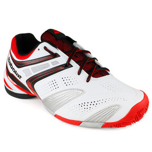 BABOLAT MENS V PRO 2 CLAY SHOES WHITE/RED