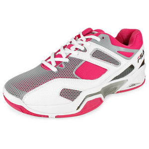 FILA WOMEN`S SENTINEL TENNIS SHOES WHITE/PINK
