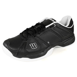 WILSON MENS STANCE BLACK/WHITE TENNIS SHOES