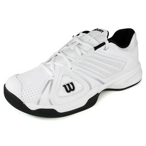 WILSON MENS OPEN WHITE/BLACK TENNIS SHOES
