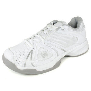 WILSON WOMENS OPEN WHITE/ALUMINUM SHOES