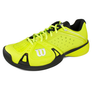WILSON MENS RUSH PRO INTENSE LIME/BLACK SHOES