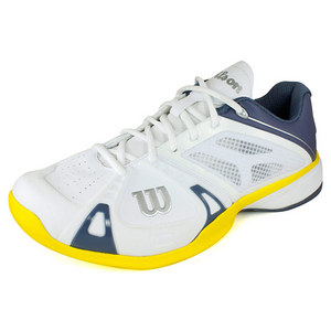 WILSON MENS RUSH PRO WHITE/GREY/GOLD SHOES