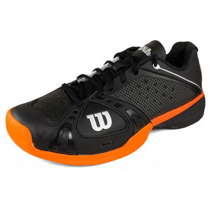 WILSON MENS RUSH PRO BLACK/TUSCAN ORANGE SHOES
