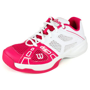 WILSON JUNIORS RUSH PRO HOTTEST PINK/WH SHOES