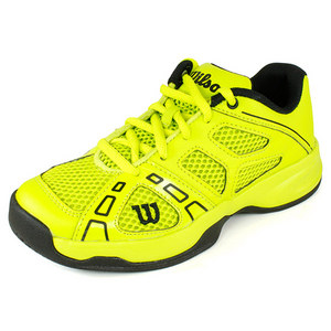 WILSON JUNIORS RUSH PRO INTENSE LIME/BK SHOES