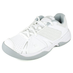 WILSON JUNIORS OPEN WHITE/ICE GREY TENNIS SHOES