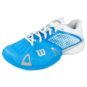 WILSON WOMENS RUSH PRO CYAN/WH/SILV SHOES