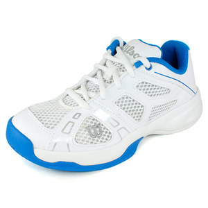 WILSON JUNIORS RUSH PRO WHITE/POOL TENNIS SHOES