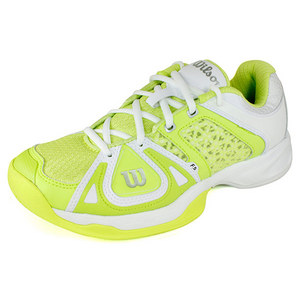 WILSON WOMENS STANCE ELITE CYBER GREEN/WH SHOES