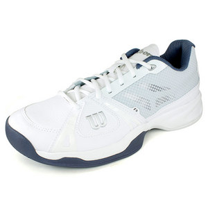 WILSON MENS RUSH WHITE/FLINT GREY TENNIS SHOES