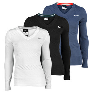 NIKE WOMENS KNIT TENNIS SWEATER