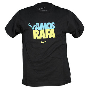 NIKE JUNIORS VAMOS RAFA US OPEN TENNIS TEE BK